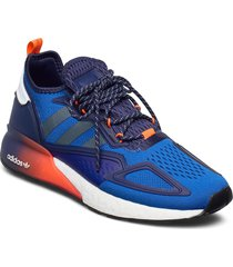 zx 2k boost låga sneakers blå adidas originals