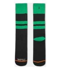 wesc single pack athletic men's crew cut socks