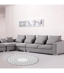 100cm gris triángulo ronda de alfombras alfombras salón área suelo yoga mat - 100cm
