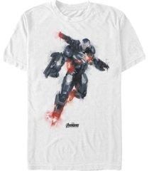 marvel men's avengers endgame dripping paint war machine short sleeve t-shirt