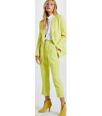 blazer de alfaiataria amarelo com botões de argola amarelo neon - 44