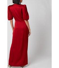 de la vali women's ohio dress - red solid - uk 12