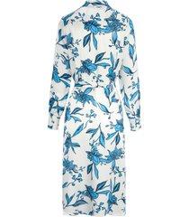 jurk met lange mouwen en doorlopende knoopsluiting van peter hahn wit