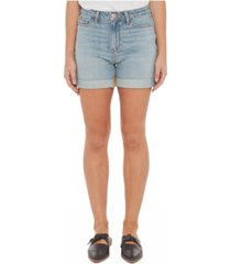 women's high-rise denim shorts