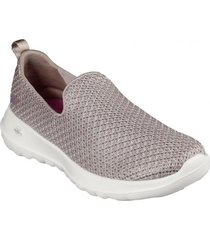 zapatos mujer  go walk joy - fiesta beige skechers