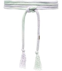 isabel marant tassel-detail rope belt - green