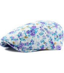 cappello da berretto in cotone con fiore in cotone per donna all'aperto cap confortevole da viaggio