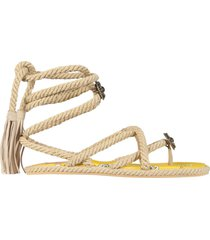 etro low thong sandals