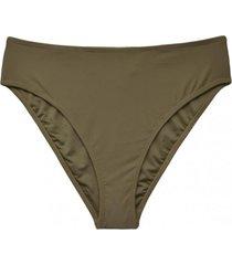 bikini calzón tiro alto abertura trasera verde samia