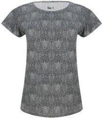 camiseta mujer animal print color blanco, talla m