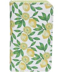buxton women's lovely lemons rfid pik-me-up snap card case