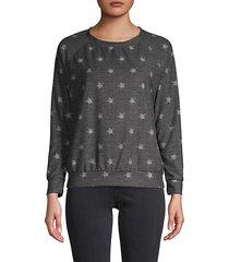 star-print sweatshirt