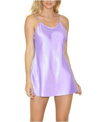 icollection women's ultra soft satin chemise with adjustable straps