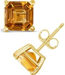 citrine (1-9/10 ct. t.w.) stud earrings in 14k yellow gold