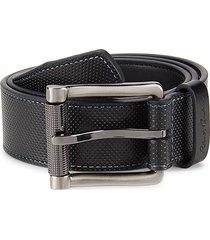 robert graham men's perforated strand leather belt - black - size 40