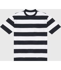 camiseta blanco-azul oscuro gap