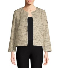 cotton roundneck cropped jacket