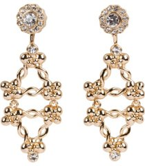grace kelly collection 18k gold plated fall clip on earring
