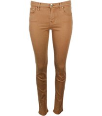 jacob cohen 5-pocket slim trousers in stretch cotton with zip
