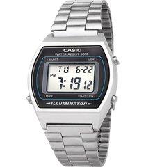 reloj digital casio b-640wd-1a plata