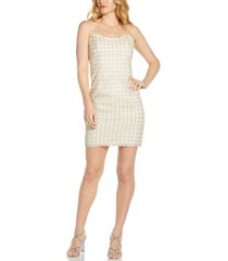 adrianna papell faux-pearl sheath dress