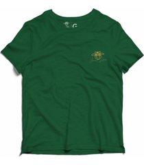 camiseta estonada vaca lôca infantil - verde escuro - kanui