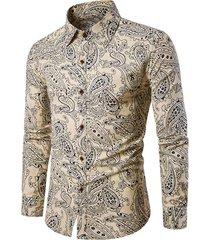 seamless paisley pattern lounge long sleeve shirt