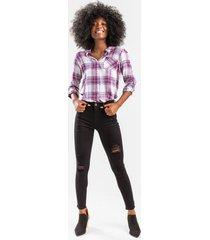 izzey distressed skinny jeans - black