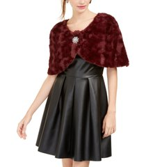 bcx juniors' brooch wrap shrug