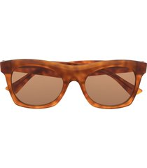 bottega veneta eyewear tortoiseshell square-frame sunglasses - brown
