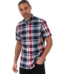 mens madras check short sleeve shirt