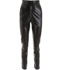 msgm high biker trousers