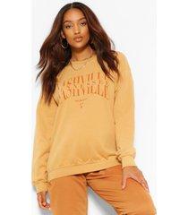 zwangerschaps nashville sweater, rust