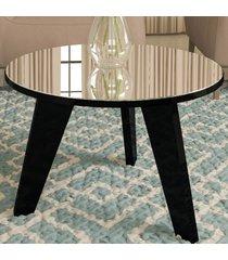 mesa de centro espanha com espelho preto - artely
