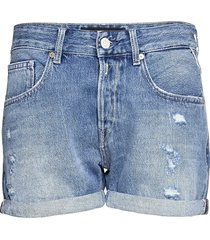 anyta rose label pack shorts denim shorts blå replay