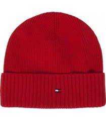 gorro cashmere rojo tommy hilfiger