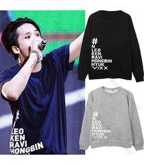 kpop vixx live show sweater v.i.x.x. ken hoodie hongbin hyuk unisex sweatershirt