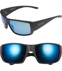 men's smith guide's choice 62mm chromapop(tm) plus polarized sunglasses - black matte