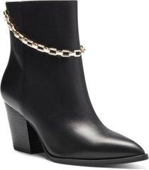 i.n.c. women's saphira block-heel booties, created for macy's women's shoes