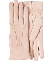 prada logo-plaque slip-on gloves - pink