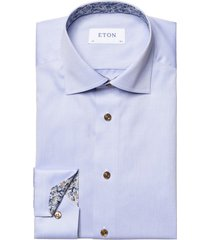 lichtblauw shirt eton classic fit