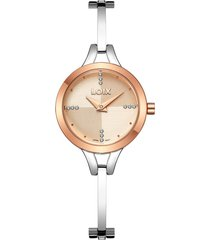 reloj para dama marca loix ref l 1170-04 plateado