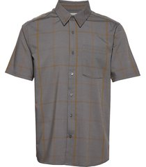mens compass ss shirt kortärmad skjorta grå icebreaker