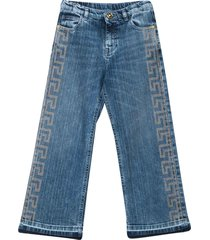 young versace blue jeans with rear logo