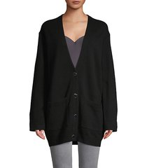 button-front wool cardigan