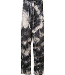 doublet tie-dye loose fit trousers - black