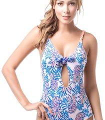 vestido de baño estampado mar de rosas mar de piña