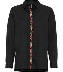 camicetta lunga (nero) - rainbow