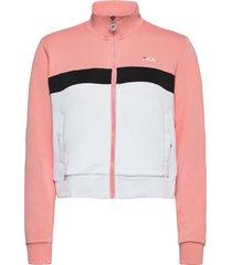 women samah track jacket sweat-shirt tröja rosa fila