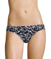 floral-print bikini bottom